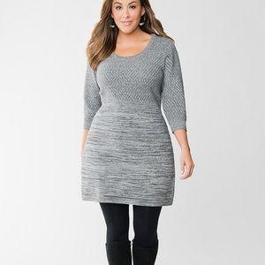 {Lane Bryant} Gray & Metallic Silver Sweater Dress